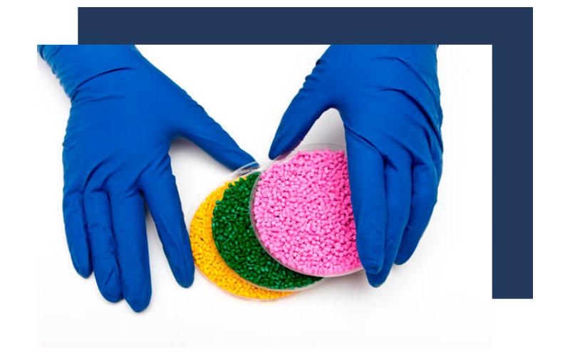 Resinas Colores y Compuestos en la industria Médica