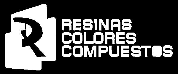 Logotipo en blanco de Resinas Colores y Compuestos