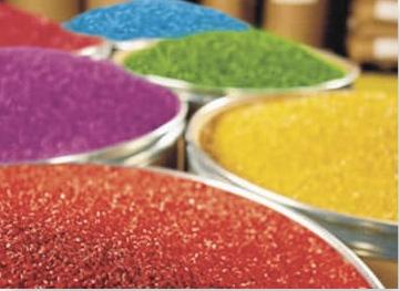 resinas de colores plásticos y aditivos.